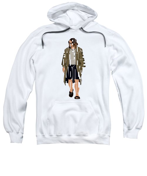 The Big Lebowski Inspired The Dude Typography Artwork Sweatshirt