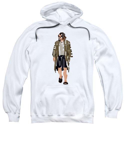 The Big Lebowski Inspired The Dude Typography Artwork Sweatshirt