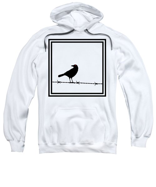 The Black Crow Knows T-shirt Sweatshirt by Edward Fielding