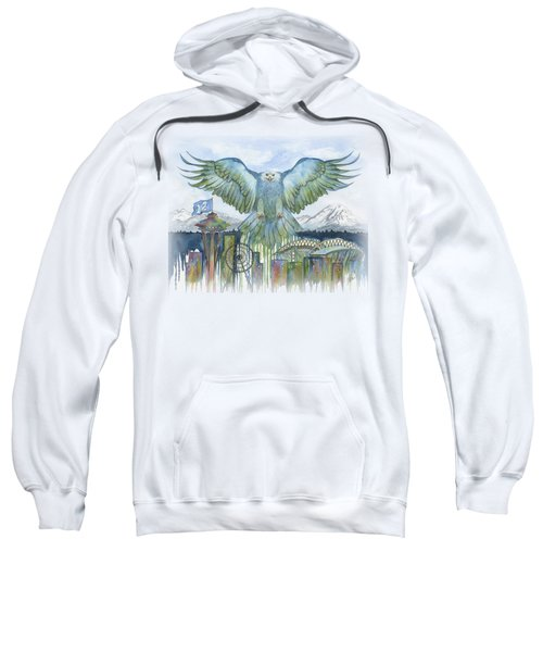 The Blue And Green Sweatshirt by Julie Senf