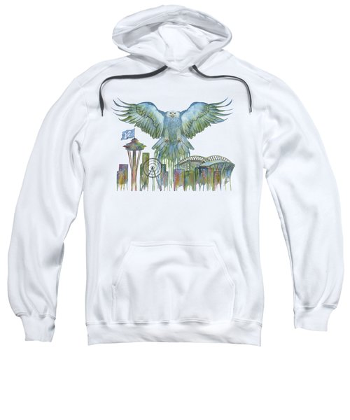 The Blue And Green Overlay Sweatshirt