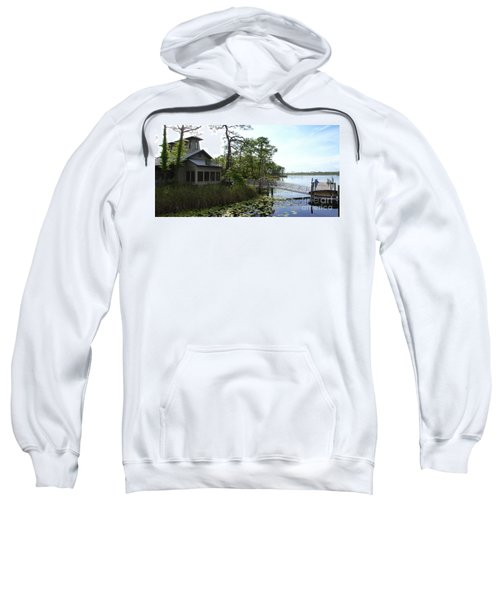 The Boathouse At Watercolor Sweatshirt by Megan Cohen
