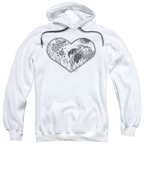 Sweatshirt featuring the drawing The Four Elements by Ana V Ramirez