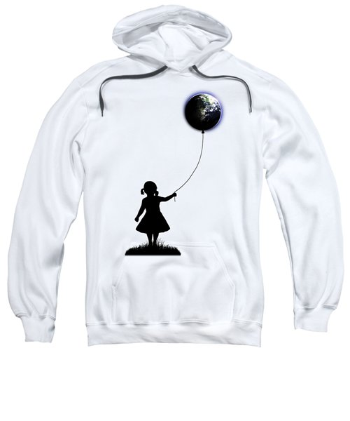The Girl That Holds The World - White  Sweatshirt by Nicklas Gustafsson