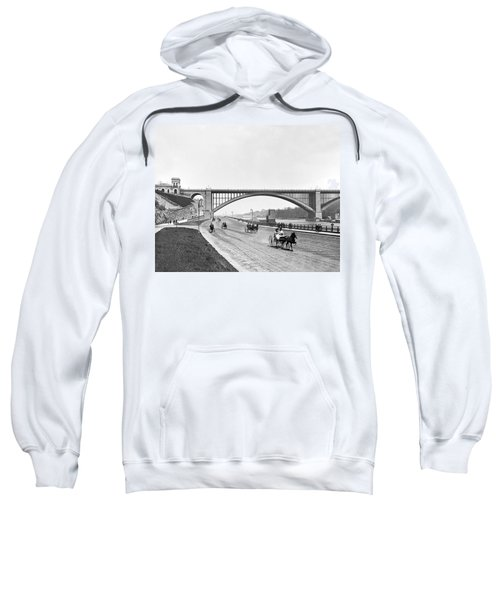 The Harlem River Speedway Sweatshirt by William Henry jackson