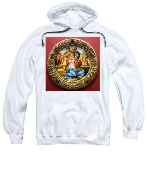 The Holy Family - Doni Tondo - Michelangelo Sweatshirt