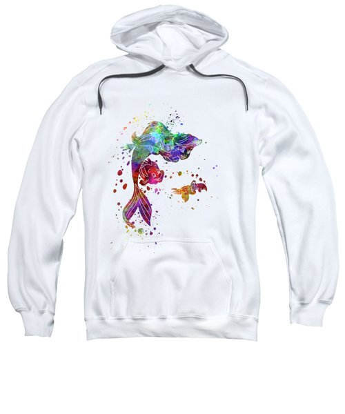 The Little Mermaid Watercolor Art Sweatshirt