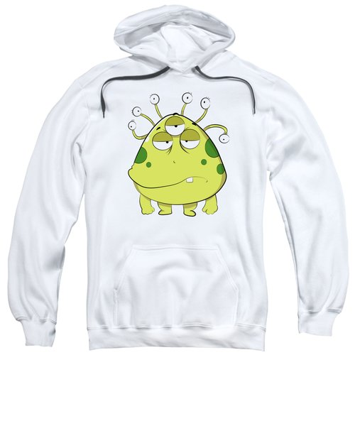 The Most Ugly Alien Ever Empty Background Sweatshirt