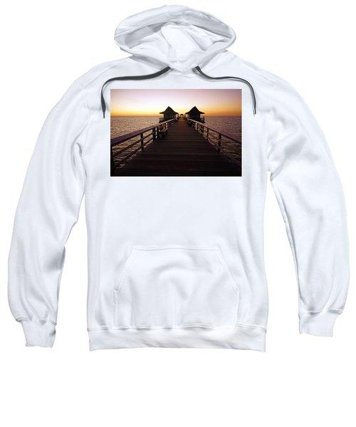 The Naples Pier At Twilight - 01 Sweatshirt
