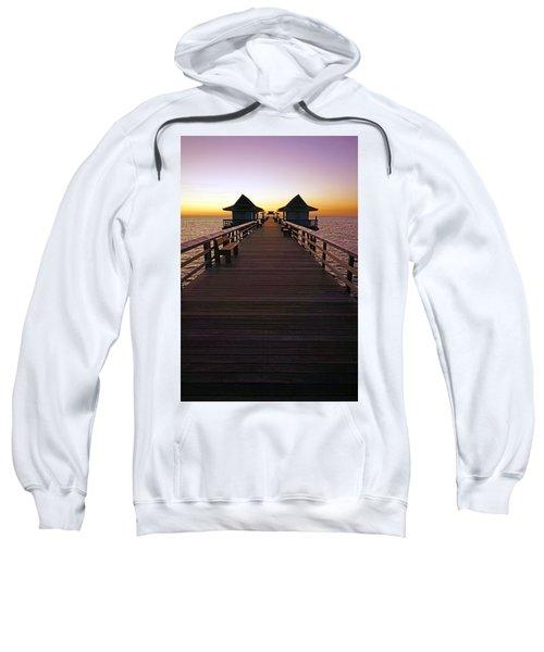 The Naples Pier At Twilight Sweatshirt