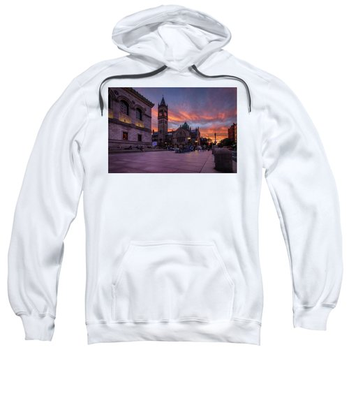 The Old South Church At Sunset Sweatshirt