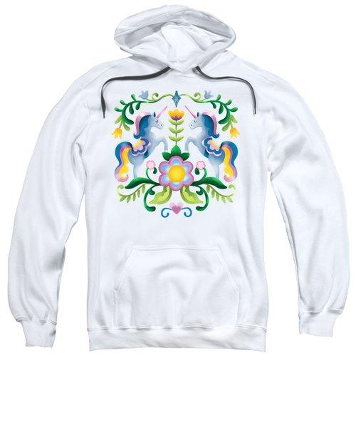 The Royal Society Of Cute Unicorns Light Background Sweatshirt