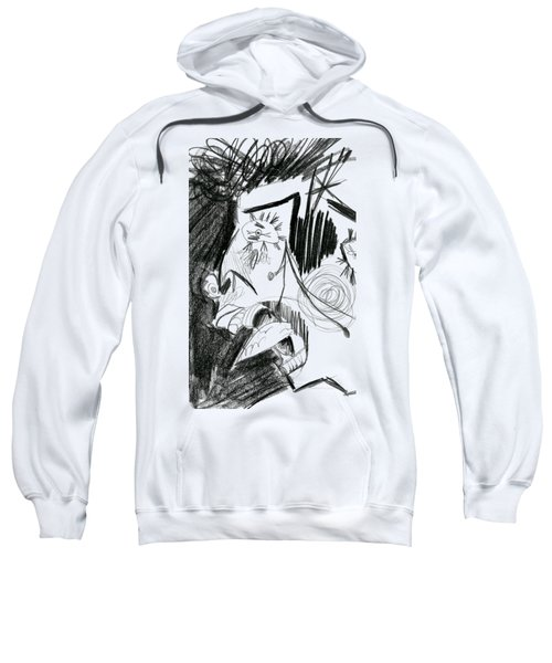 Sweatshirt featuring the drawing The Scream - Picasso Study by Michelle Calkins