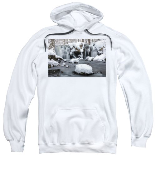 The Secret Waterfall In Winter 1 Sweatshirt