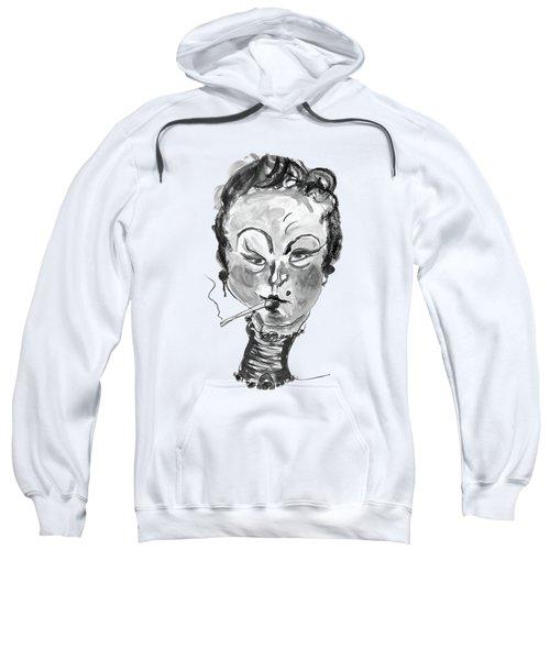 The Smoker - Black And White Sweatshirt