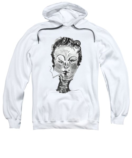 The Smoker - Black And White Sweatshirt