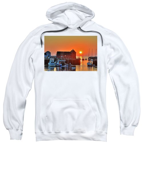 The Sun Rising By Motif Number 1 In Rockport Ma Bearskin Neck Sweatshirt