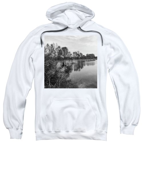Moving The Water Sweatshirt by Frank J Casella