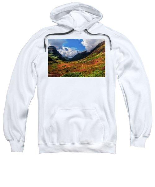The Valley Of Three Sisters. Glencoe. Scotland Sweatshirt