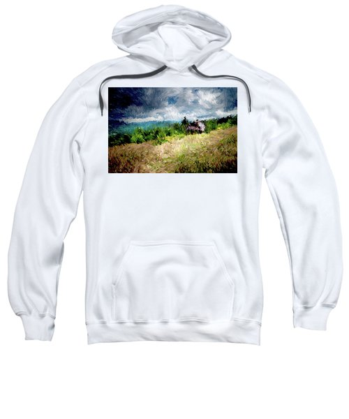 The Winds Come As Night Falls Impressionism Sweatshirt