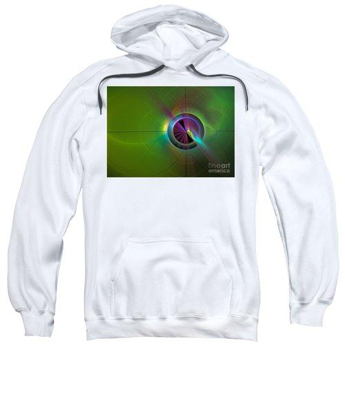Theory Of Green - Abstract Art Sweatshirt