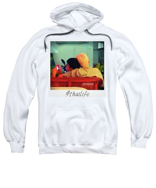 Sweatshirt featuring the photograph Thinking About Escaping Us by Mr Photojimsf