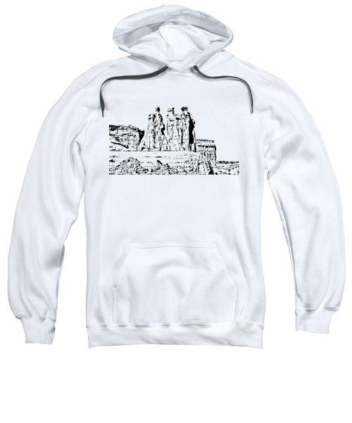 Three Gossips Drawing Sweatshirt