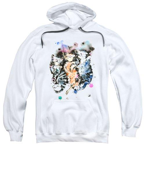 Three Sleeping Kittens Sweatshirt