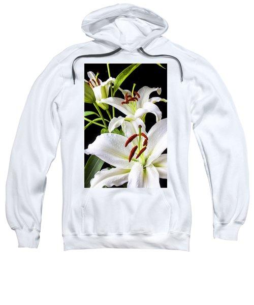 Three White Lilies Sweatshirt
