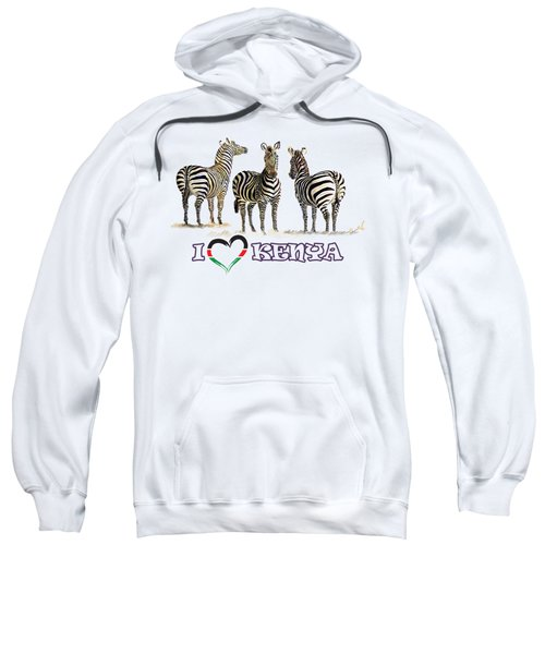Three Zebras In Kenya Sweatshirt