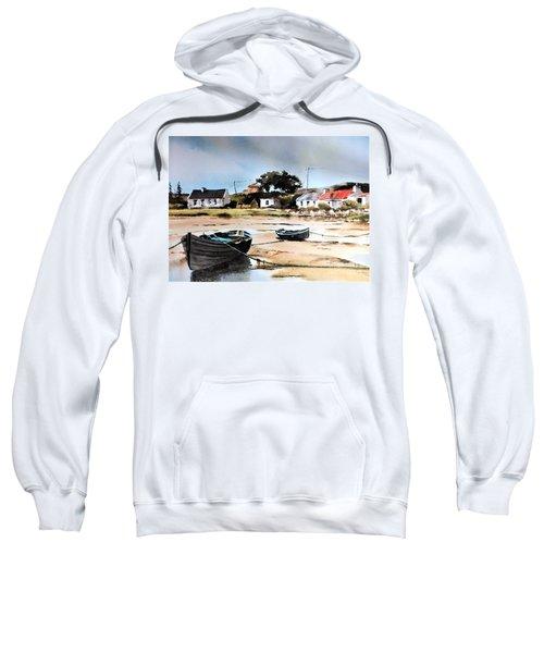 Tide Out In Erlak Roundstone Galway Sweatshirt