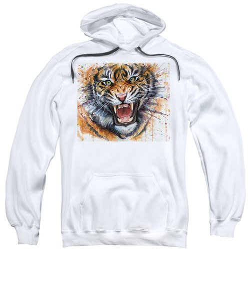 Tiger Watercolor Portrait Sweatshirt