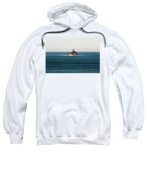 Tillamook Rock Lighthouse On A Calm Day Sweatshirt