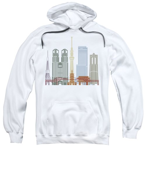 Tokyo V2 Skyline Poster Sweatshirt