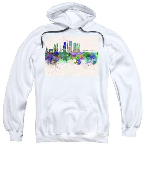 Tokyo V3 Skyline In Watercolor Background Sweatshirt