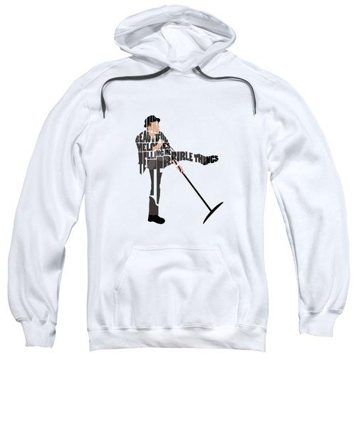 Tom Waits Typography Art Sweatshirt