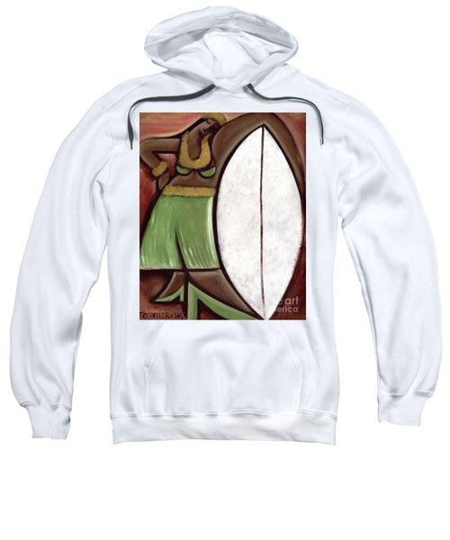 Tommervik Hula Girl Surfboard Art Print Sweatshirt