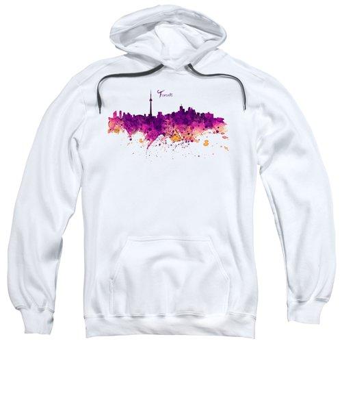 Toronto Watercolor Skyline Sweatshirt