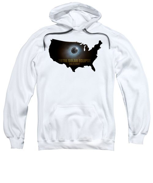 Total Solar Eclipse In United States Map Outline Sweatshirt