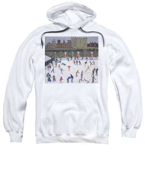 Tower Of London Ice Rink Sweatshirt by Andrew Macara