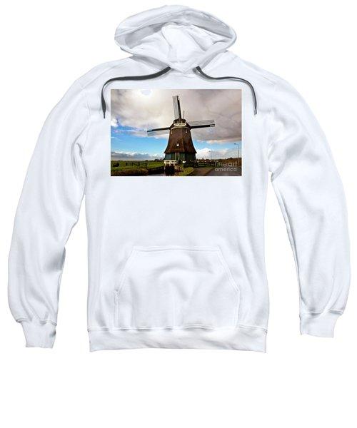 Traditional Dutch Windmill Near Volendam  Sweatshirt