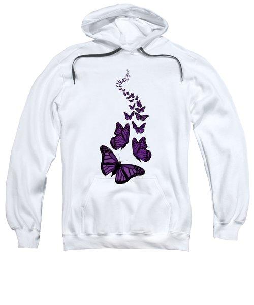 Trail Of The Purple Butterflies Transparent Background Sweatshirt