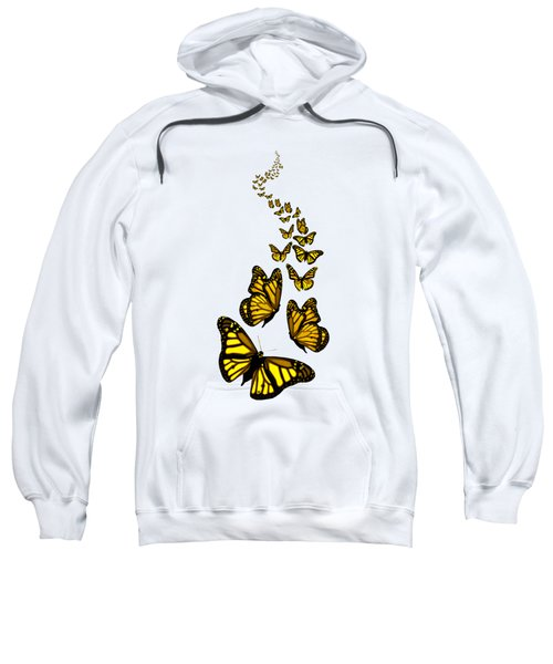Trail Of The Yellow Butterflies Transparent Background Sweatshirt