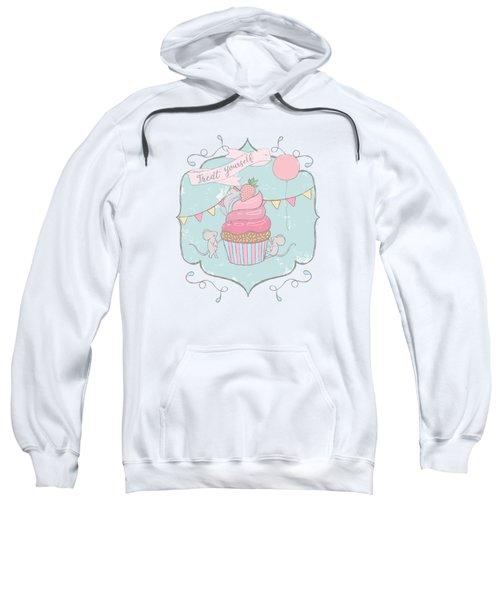 Treat Yourself Cupcake Party Sweatshirt