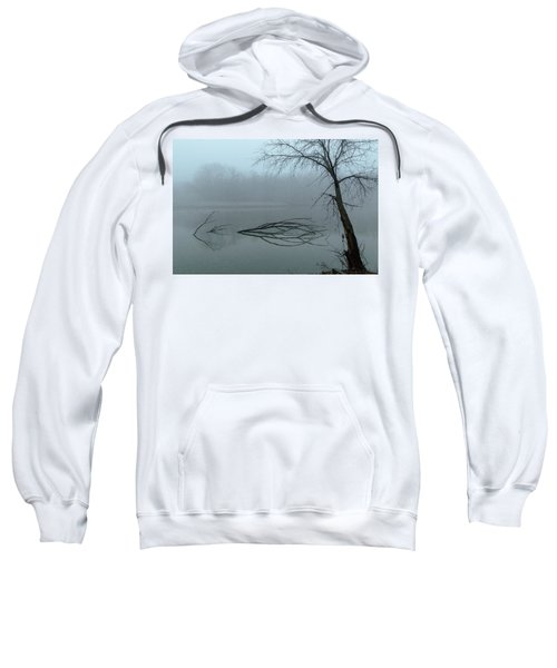 Trees In The Fog On The River Sweatshirt