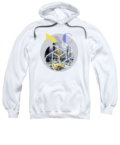 Trendy Design New York City Geometric Mix No 3 Sweatshirt by Melanie Viola