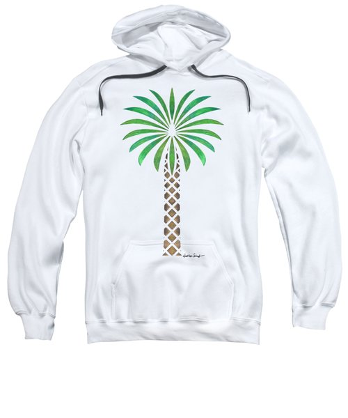 Tribal Canary Date Palm Sweatshirt by Heather Schaefer