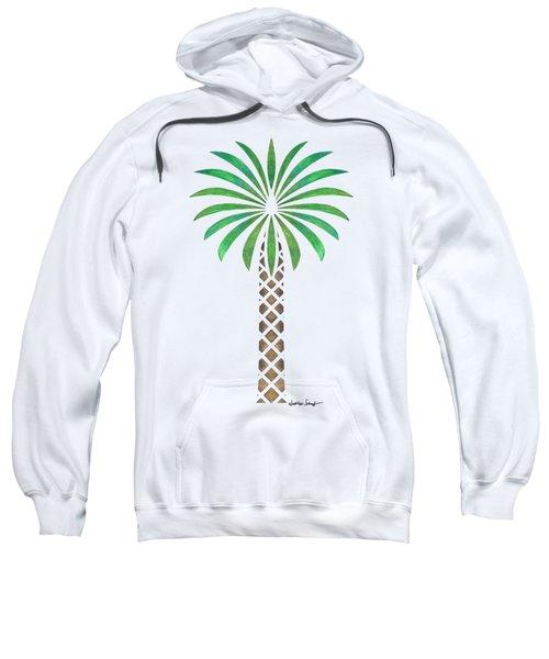 Tribal Canary Date Palm Sweatshirt