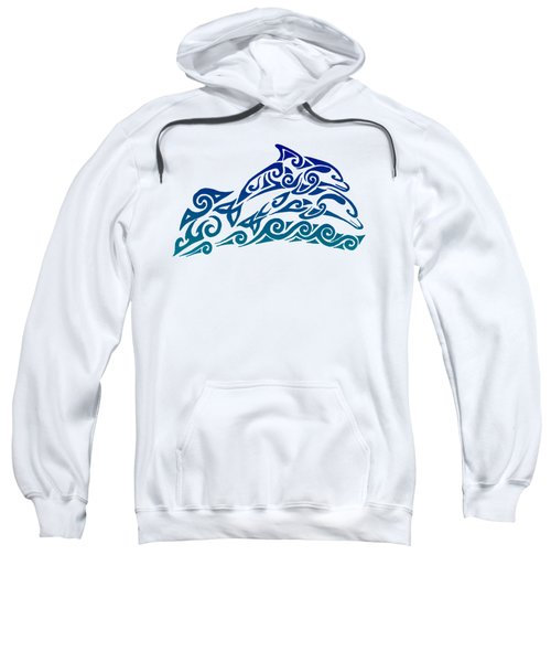 Tribal Dolphins Sweatshirt by Rebecca Wang