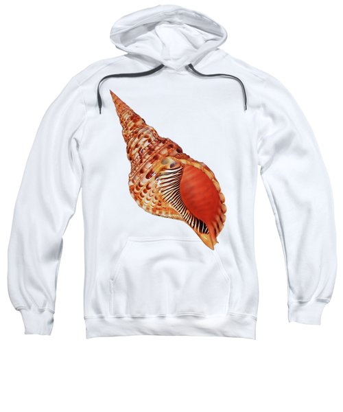 Triton Shell On White Vertical Sweatshirt